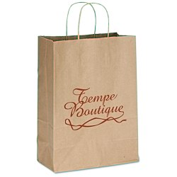 View a larger, more detailed picture of the Brown Kraft Recycled Paper Bag - 13-1 2 x 10 - 24 hr