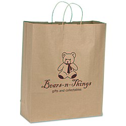 View a larger, more detailed picture of the Brown Kraft Recycled Paper Bag - 19-1 4 x 16 - 24 hr