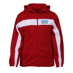 View a larger, more detailed picture of the Badger Sport Brushed Tricot Hooded Jacket - Men s