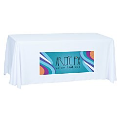 View a larger, more detailed picture of the Economy Open-Back Poly Table Throw-6 -Front Panel-Full Color