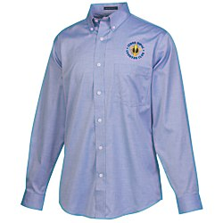 View a larger, more detailed picture of the Wrinkle-Free Pinpoint Dress Shirt - Men s