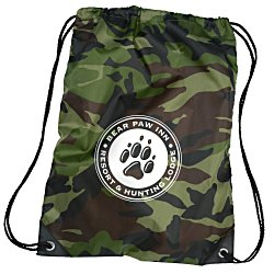 View a larger, more detailed picture of the Drawstring Sportpack - 18 x 14 - Camo - 24 hr
