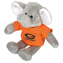 View a larger, more detailed picture of the Mascot Beanie Animal - Elephant - 24 hr
