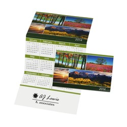 View a larger, more detailed picture of the Z-Fold Calendar - Scenic