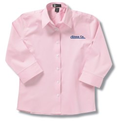 View a larger, more detailed picture of the Easy Care 3 4 Sleeve Dress Shirt - Ladies - Closeout