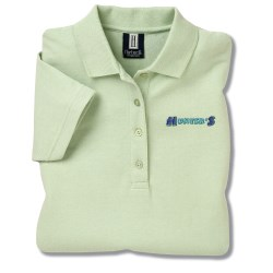 View a larger, more detailed picture of the 60 40 Blend Pique Sport Shirt - Ladies - Closeout Colors