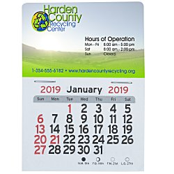 View a larger, more detailed picture of the Peel-n-stick Calendar-Rectangle-Full Color
