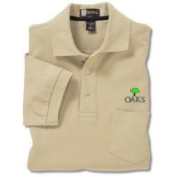 View a larger, more detailed picture of the 100 Combed Cotton Pocket Sport Shirt - Men s - Closeout