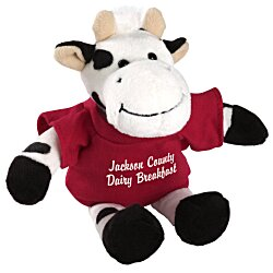 View a larger, more detailed picture of the Mascot Beanie Animal - Cow