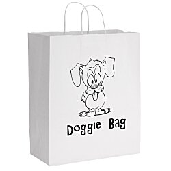 View a larger, more detailed picture of the White Kraft Paper Shopping Bag - 15-3 4 x 13 - 24 hr
