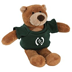 View a larger, more detailed picture of the Mascot Beanie Animal - Brown Bear