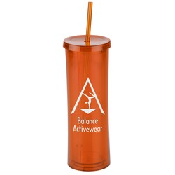 View a larger, more detailed picture of the Via Spirit Tumbler with Straw - 16 oz - Closeout
