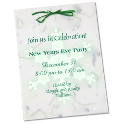 View a larger, more detailed picture of the Seeded Invitation Program - 7 x 5 - Blue Wildflower