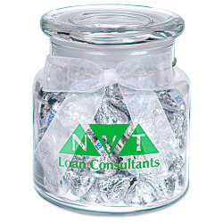 View a larger, more detailed picture of the Sweeten Up Candy Jar - Hershey s Chocolate Kisses