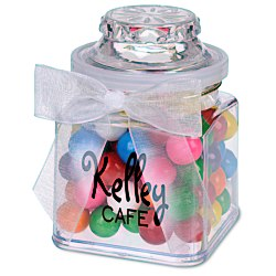 View a larger, more detailed picture of the Plastic Goody Jar - Rainbow Bubble Gum