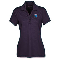 View a larger, more detailed picture of the Maze Stretch Embossed Print Polo - Ladies