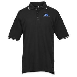 View a larger, more detailed picture of the Gordon Tipped Pique Polo - Men s