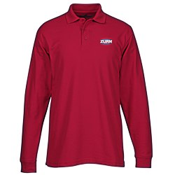 View a larger, more detailed picture of the Soft Touch Pique LS Sport Shirt - Men s