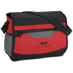 View a larger, more detailed picture of the Mesh Accent Messenger Bag