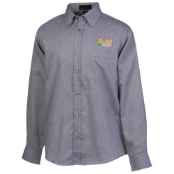 View a larger, more detailed picture of the Yarn-Dyed Wrinkle Resistant Dobby Shirt - Men s