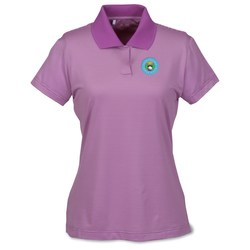 View a larger, more detailed picture of the Adidas Climalite Classic Stripe Polo - Ladies