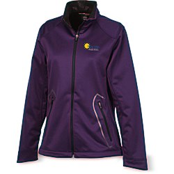 View a larger, more detailed picture of the Splice 3-Layer Bonded Soft Shell Jacket - Ladies