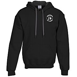 View a larger, more detailed picture of the Gildan 50 50 Hooded Sweatshirt w Contrast Color - Screen