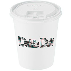 View a larger, more detailed picture of the Paper Hot Cold Cup with Tear Tab Lid - 10 oz - Low Qty