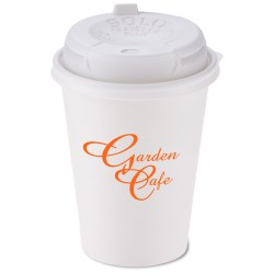 View a larger, more detailed picture of the Paper Hot Cold Cup - 12 oz w Traveler Plus Lid