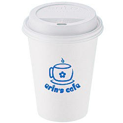 View a larger, more detailed picture of the Paper Hot Cold Cup - 12 oz w Traveler Lid