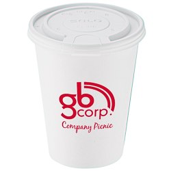 View a larger, more detailed picture of the Paper Hot Cold Cup with Tear Tab Lid - 12 oz - Low Qty