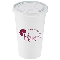 View a larger, more detailed picture of the Paper Hot Cold Cup - 16 oz w Tear Tab Lid - Low Qty