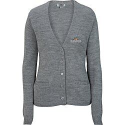 View a larger, more detailed picture of the Acrylic V-Neck Cardigan - Ladies 