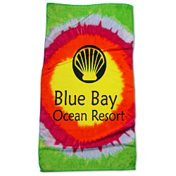 View a larger, more detailed picture of the Tie Dye Beach Towel - Teardrop