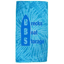View a larger, more detailed picture of the Tie Dye Beach Towel