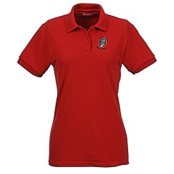 View a larger, more detailed picture of the Gildan DryBlend 50 50 Pique Sport Shirt - Ladies