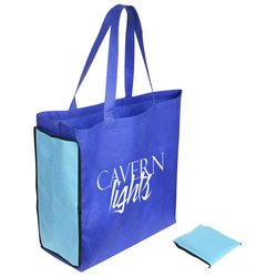 View a larger, more detailed picture of the Shop N Zip Foldable Tote Bag - 24 hr