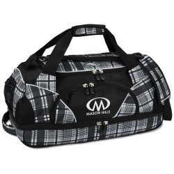 View a larger, more detailed picture of the High Sierra 24 Crunk Cross Sport Duffel - Plaid