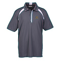 View a larger, more detailed picture of the Quinn Color Block Textured Polo - Men s