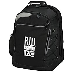 View a larger, more detailed picture of the Summit Checkpoint-Friendly Laptop Backpack - 24 hr