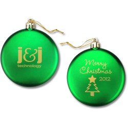 View a larger, more detailed picture of the Flat Ornament - Tree - Merry Christmas