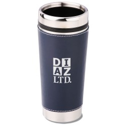 View a larger, more detailed picture of the Leatherette Tumbler - 16 oz - Screen - 24 hr