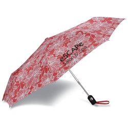 View a larger, more detailed picture of the totes Auto Open Close Umbrella - Floral - 24 hr
