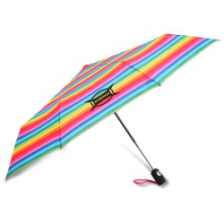 View a larger, more detailed picture of the totes Auto Open Close Umbrella - Stripes - 24 hr