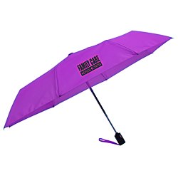 View a larger, more detailed picture of the totes Auto Open Close Umbrella - Solid - 24 hr