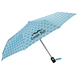 View a larger, more detailed picture of the totes Auto Open Close Umbrella - French Circle - 24 hr
