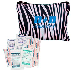 View a larger, more detailed picture of the Fashion First Aid Kit - Zebra - 24 hr