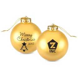 View a larger, more detailed picture of the 3-1 4 Round Ornament - Tree - Merry Christmas