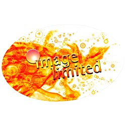 View a larger, more detailed picture of the Full Color Name Badge - Oval - Magnet