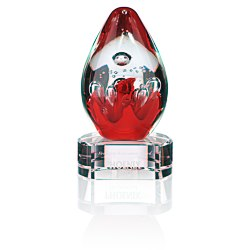View a larger, more detailed picture of the Lava Art Glass Award - Clear Base